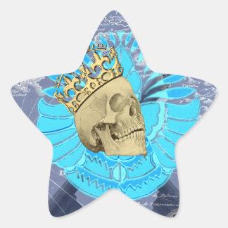 Rey Skull Calcomanias Forma De Estrella
