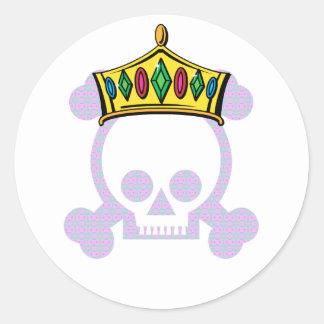 Rey Skull de la reina Pegatina