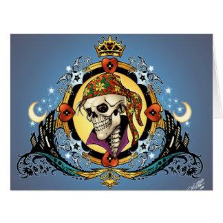 Rey Skull Pirate con los corazones por el Al Río Tarjeton
