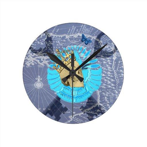 Rey Skull Relojes De Pared