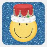 Rey Smiley Face Sticker - SRF Pegatina Cuadradas