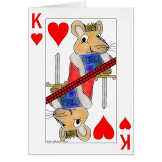 Rey sonriente de la rata de la tarjeta de la tarje
