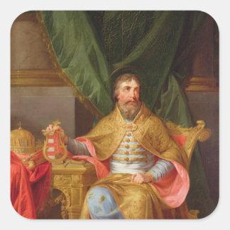 Rey Stephen Pegatina Cuadrada