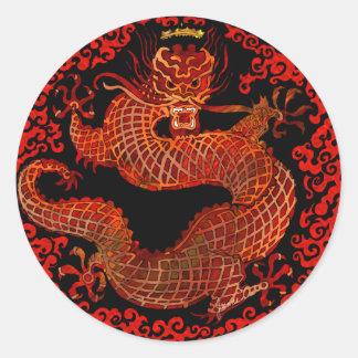 Rey Sticker del dragón Pegatina Redonda