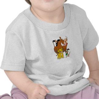 Rey Timon Simba Pumba del león con la mariquita Di Camiseta