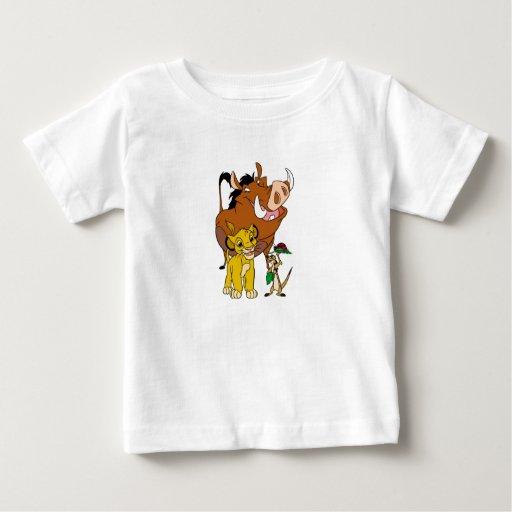 Rey Timon Simba Pumba del león con la mariquita Playera De Bebé