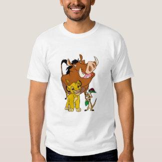 Rey Timon Simba Pumba del león con la mariquita Poleras