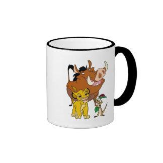 Rey Timon Simba Pumba del león con la mariquita Taza De Dos Colores