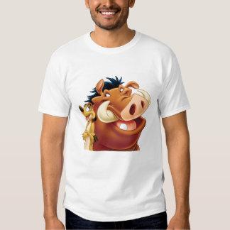 Rey Timon y Pumba Disney sonriente del león Playera