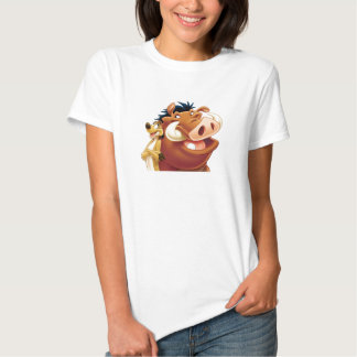 Rey Timon y Pumba Disney sonriente del león Playeras
