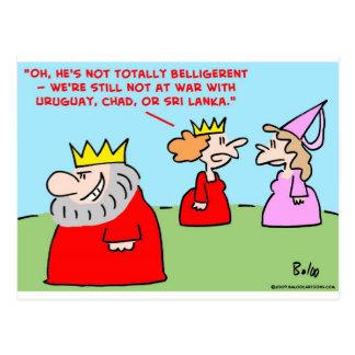 rey totalmente beligerante tarjetas postales