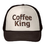 Rey Truckers Style Hat del café Gorros Bordados