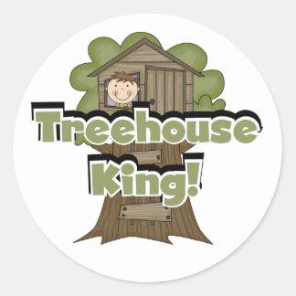 Rey Tshirts y regalos de la casa del árbol Pegatina Redonda