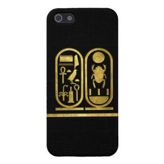 Rey Tut Cartouche iPhone 5 Protectores
