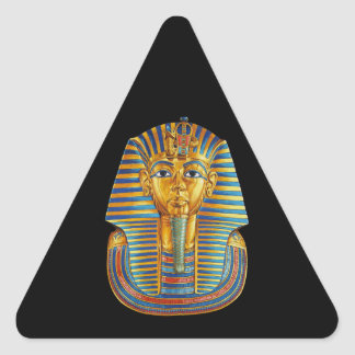 Rey Tut Dark Stickers Pegatina Triangular