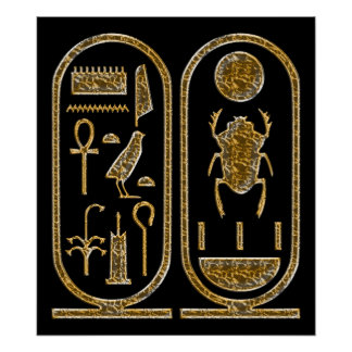 Rey Tut Hieroglyphics Poster Print