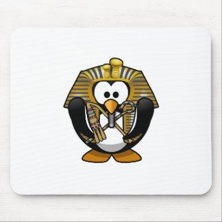 Rey Tut Penguin Alfombrilla De Ratón