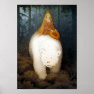 Rey Valemon del oso blanco Póster