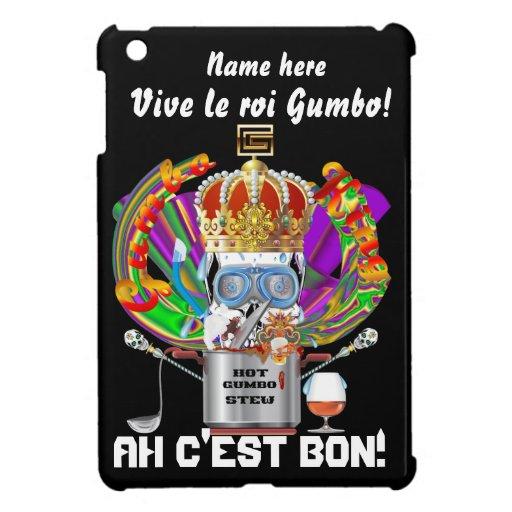 Rey View Hints del Gumbo del carnaval por favor iPad Mini Cárcasas