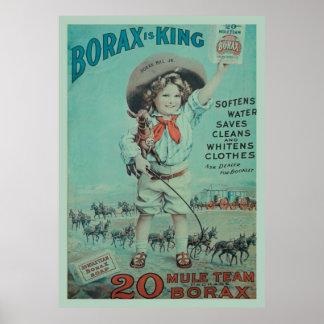 Rey Vintage Poster Ad del bórax
