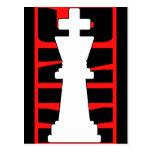 Rey White Customizable del ajedrez Postal