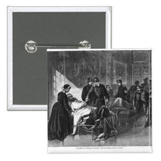 Rey Wilhelm I que visita el hospital Pin Cuadrada 5 Cm