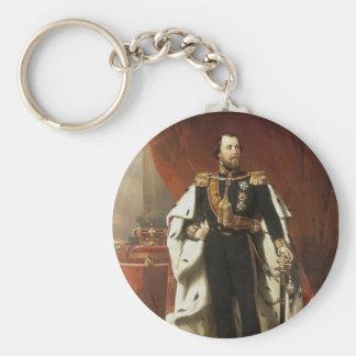 Rey Willem III de los Países Bajos - el Pieneman Llavero Redondo Tipo Pin
