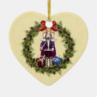 Rey Wreath Heart Ornament del ratón Adornos