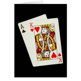 Rey y as del amor tarjeta de felicitación