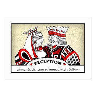 Rey y reina - 3,5 x 2,5 tarjetas de la recepción tarjetas de visita grandes