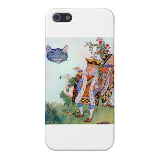Rey y reina de corazones, Alicia y el gato de iPhone 5 Carcasas