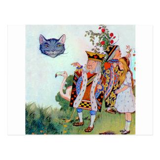 Rey y reina de corazones, Alicia y el gato de Postales
