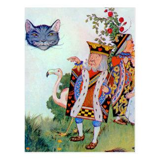 Rey y reina de corazones, Alicia y el gato de Tarjetas Postales