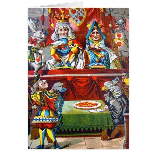 Rey y reina de corazones - el bribón de los corazo tarjeta de felicitación