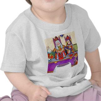 Rey y reina de corazones en el bribón de los coraz camiseta