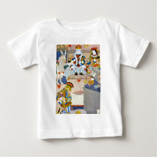 Rey y reina de corazones en el bribón de los camisetas