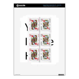 Rey y reina de corazones iPad 3 pegatinas skins