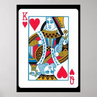 Rey y reina de corazones póster