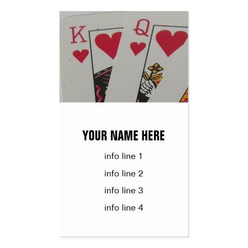 Rey y reina de corazones tarjeta de visita