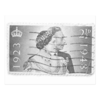 Rey y reina de Inglaterra Tarjeta Postal