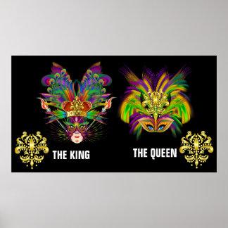 Rey y reina impresiones