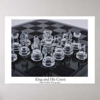 Rey y su corte póster