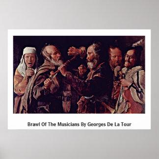 Reyerta de los músicos de Georges de La Tour Impresiones
