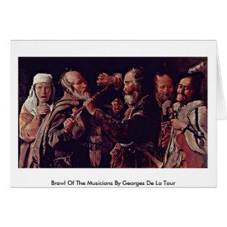 Reyerta de los músicos de Georges de La Tour Tarjetón