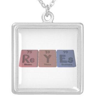 Reyes as Rhenium Yttrium Einsteinium Square Pendant Necklace