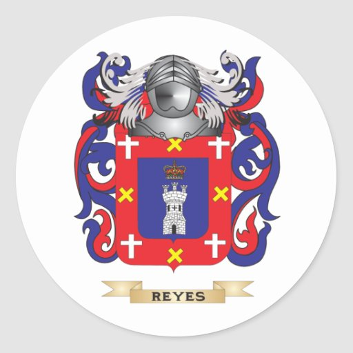 Reyes Coat of Arms (Family Crest) Classic Round Sticker