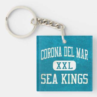 Reyes de mar de Corona del Mar atletismo Llavero Cuadrado Acrílico A Doble Cara