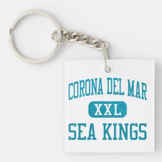 Reyes de mar de Corona del Mar atletismo Llavero Cuadrado Acrílico A Una Cara