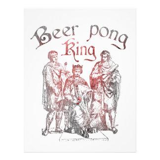 Reyes de Pong de la cerveza Plantillas De Membrete