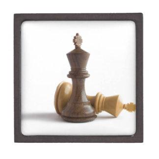 Reyes del ajedrez caja de recuerdo de calidad